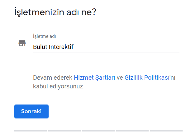 google benim işletmem kayıt