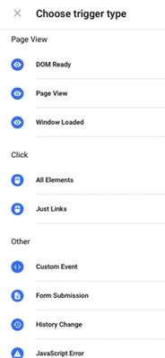 Google Tag Manager Tetikleyiciler