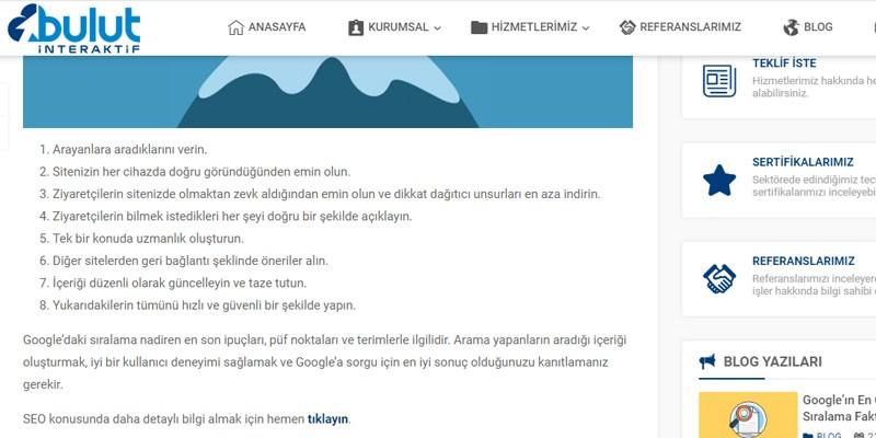 Sayfa İçi Bağlantı