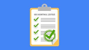 SEO Checklist – Kontrol Listesi 2020